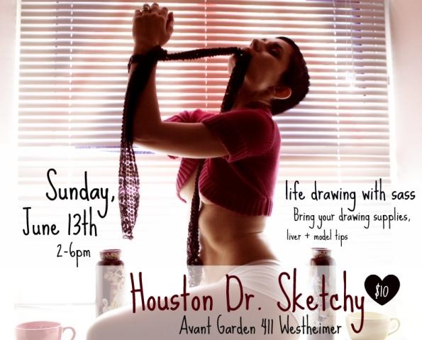 Houston life drawing group at Dr. Sketchy