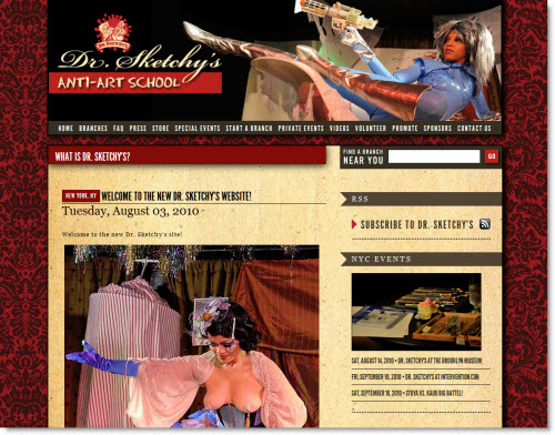 Dr. Sketchy website
